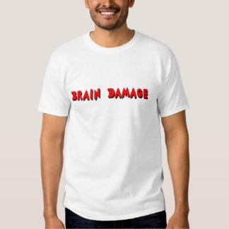 Camiseta del daño cerebral playeras