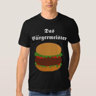 Camiseta del Das Burgermeister Playera