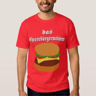 Camiseta del Das Cheeseburgermeister Polera