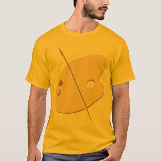 Camiseta del delantal de la paleta del artista