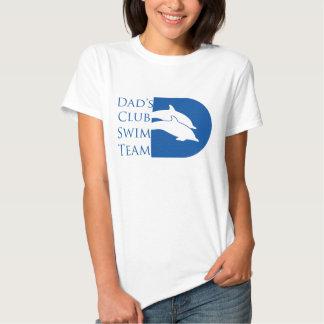 Camiseta del delfín de las mujeres, blanca playera
