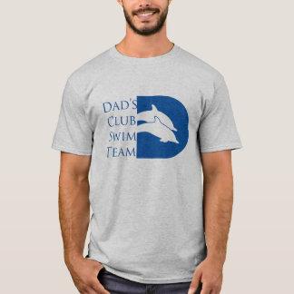 Camiseta del delfín de los hombres, gris