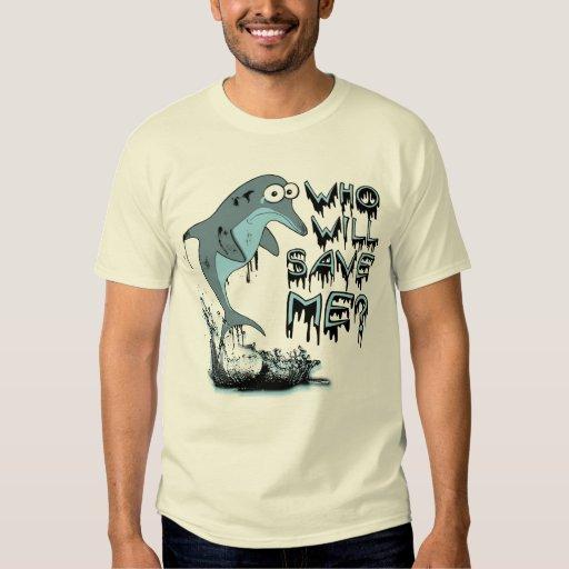 Camiseta del delfín del derrame de petróleo camisas