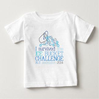 Camiseta del desafío del cubo de hielo del niño -