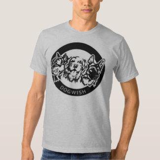 Camiseta del deseo del perro de los hombres playeras