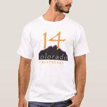camiseta del desgaste 14er