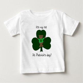 Camiseta del día de 1r St Patrick del bebé