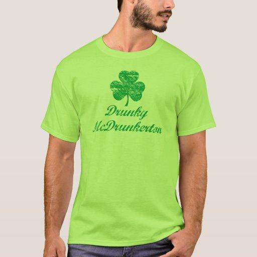 Camiseta del día de Drunky McDrunkerton St Patrick