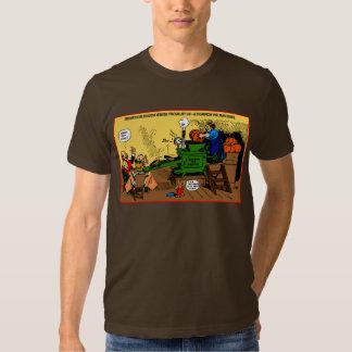 Camiseta del día de fiesta de la máquina del camisas