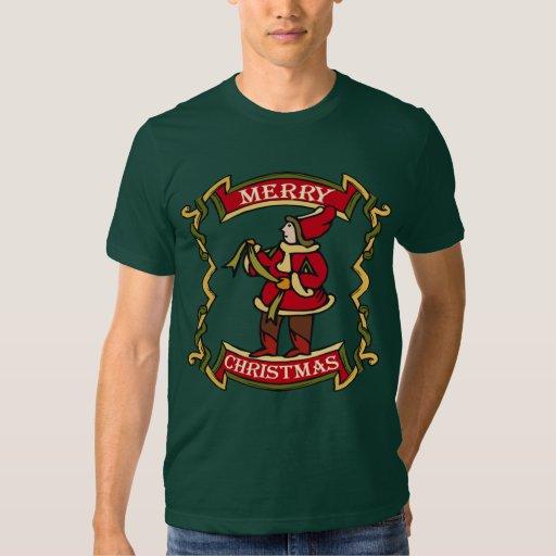Camiseta del día de fiesta del navidad poleras