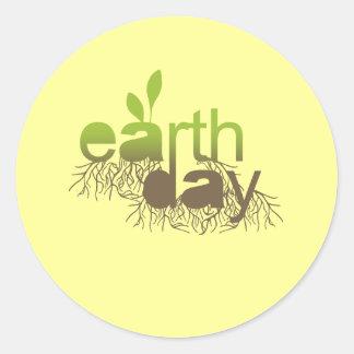 Camiseta del Día de la Tierra/camisetas del Día de Pegatina Redonda