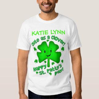 Camiseta del día de St Patrick del irlandés/mono Camisas
