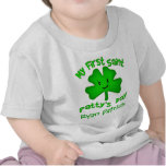 Camiseta del día de St Patrick del irlandés/mono d