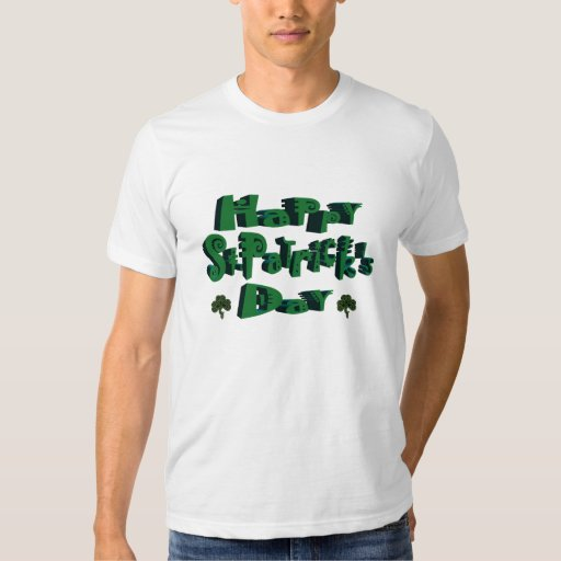 Camiseta del día de St Patrick feliz Playeras
