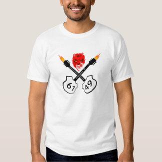 Camiseta del diablo de azules de los cruces remera