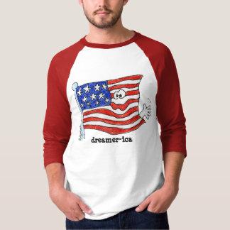 camiseta del dibujo animado de la bandera poleras
