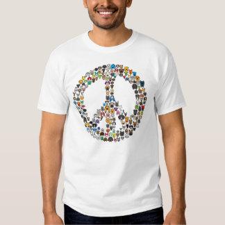 Camiseta del dibujo animado de la raza del perro camisas