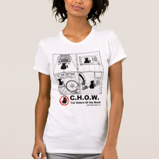 Camiseta del dibujo animado del enemigo del gato