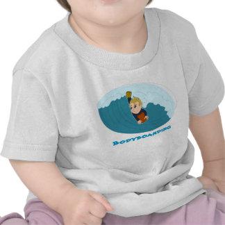 Camiseta del dibujo animado del muchacho de Bodybo