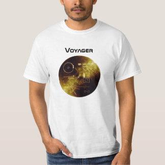 Camiseta del disco de oro del viajero