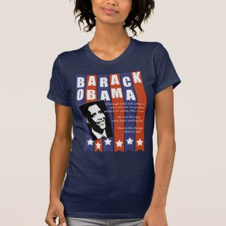 Camiseta del discurso del cambio de Obama