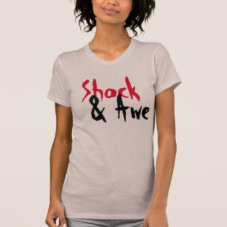 camiseta del diseñador del choque y del temor poleras