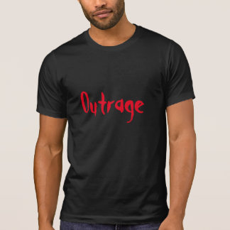 camiseta del diseñador del ultraje playera