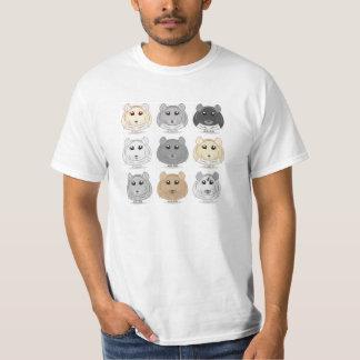 Camiseta del diseño de nueve chinchillas camisas