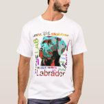 Camiseta del diseño del arte pop de Labrador