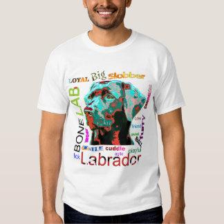 Camiseta del diseño del arte pop de Labrador Polera