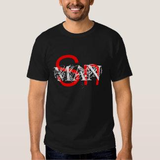 Camiseta del DISEÑO del COMANDANTE MARCA ROJA de Polera