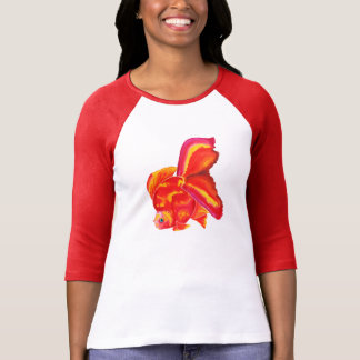 Camiseta del diseño del Goldfish de Ryukin