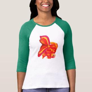 Camiseta del diseño del Goldfish de Ryukin Playeras