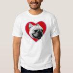 Camiseta del dogo francés del amor remera
