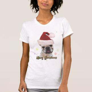 Camiseta del dogo francés del navidad playeras