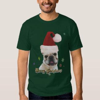 Camiseta del dogo francés del navidad poleras