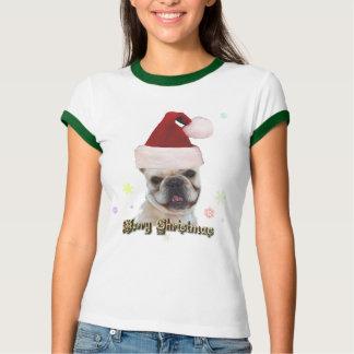 Camiseta del dogo francés del navidad remera