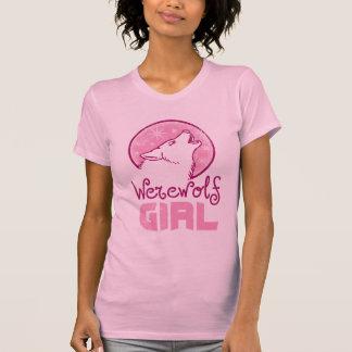 Camiseta del Dos-fer del chica del hombre lobo Poleras