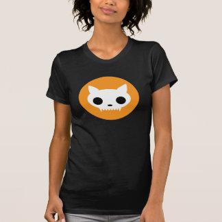 Camiseta del Dos-fer del cráneo del gato de Klaar