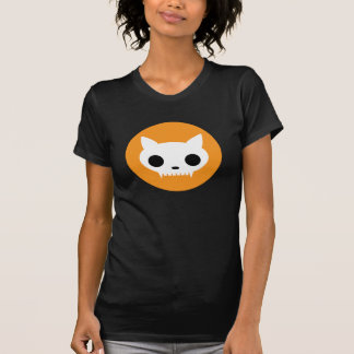 Camiseta del Dos-fer del cráneo del gato de Klaar Camisas