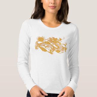 Camiseta del dragón del oro remeras