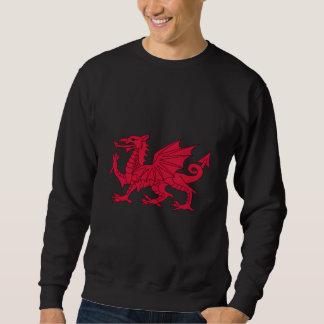Camiseta del dragón Galés Sudadera Con Capucha