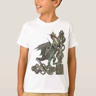 Camiseta del dragón verde de la fantasía