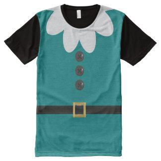 Camiseta del duende de la novedad del navidad del