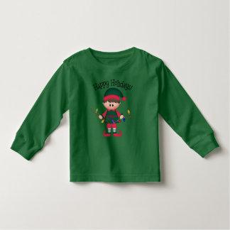 Camiseta del duende del navidad de los niños