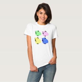 Camiseta del efecto del arte pop del conejillo de remera