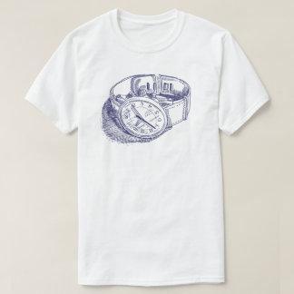 Camiseta del ejemplo del reloj del vintage