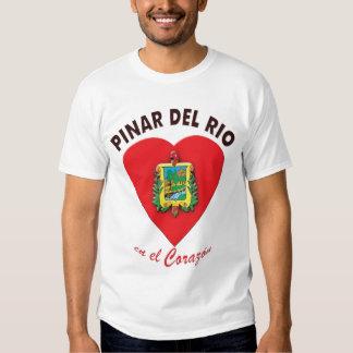 Camiseta del EL Corazón del en del Pinar del Rio Playera