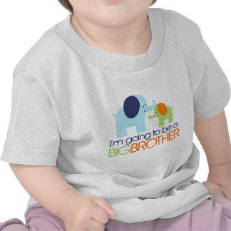 Camiseta del elefante de hermano mayor