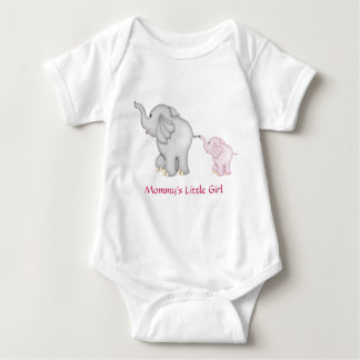 Camiseta del elefante de la niña de la mamá remeras
